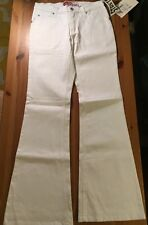 NWT Lazer Jeans Sexy Juniors LowRise White Flare Stretchy Jeans Size 5