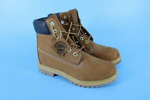 Timberland 6-Inch Premium Waterproof Rust Nubuck Women's Boots Size 8