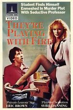 THEY'RE PLAYING WITH FIRE Movie POSTER 27x40 Sybil Danning Eric Brown Andrew
