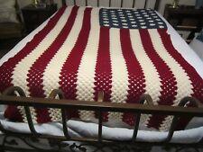 Vintage American Flag Afghan / Throw 46 Stars