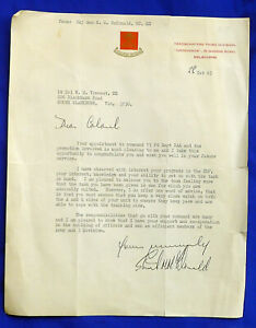 MILITARY LETTERS x 3; HQ 3 DIV & DIRECTORATE OF ARTILLERY to LT COL W M VINCENT.