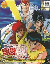 Anime Yu Yu Hakusho Vol.1 - 112 End + 3 Movie Complete DVD Box Set