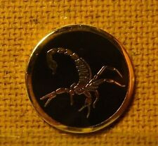 1 Only Black Scorpion Golf Ball Markers - White No Longer Available