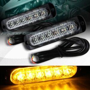 12 LED AMBER CAR EMERGENCY BEACON HAZARD WARNING FLASH STROBE LIGHT UNIVERSAL