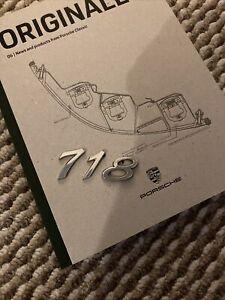 Used Genuine Porsche Cayman Boxster 718 Script Rear Badge Chrome 982 853 675 A