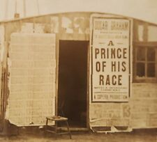 ANTIQUE 1913 A PRINCE OF HIS RACE MOVIE? POSTER GRAHAM DALLAS TX RPPC PHOTO
