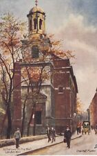 TUCK :OLD LONDON CHURCHES-Allhallows on the Wall- CHARLES E FLOWER-OILETTE 6259