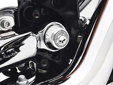 Harley OEM Original Willie G. skull  swingarm pivot bolt cover set Sportster XL