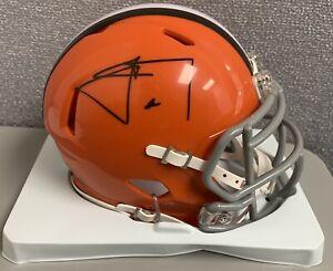 Johnny Manziel Cleveland Browns Autograph Riddell Speed Mini Helmet Texas A&M