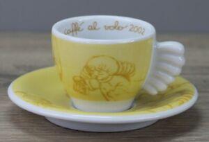 Thun Weihnachten coffee al volo 2002 gelb Espressotasse Tasse mit Unterteller