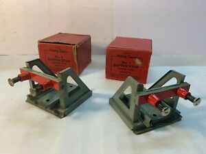 Hornby O Gauge Tinplate Buffer Stops (2) Boxed