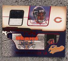 2002 Fleer Authentix Ripped Brian Urlacher Bears Jersey Card