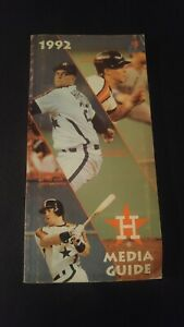Vintage 1992 Houston ASTROS Media Guide Baseball Facts Jeff Bagwell