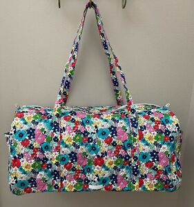 Vera Bradley FAR OUT FLORAL Large Travel Duffel Bag Tote Luggage - NEW $109