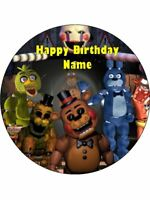 FIVE NIGHTS AT FREDDYS 19cm Edible Icing Image Birthday Cake Topper Decoration #