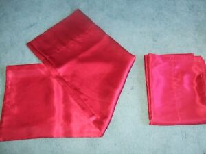 Set of 2 Charmeuse Satin Queen Size Soft Red Pillow Cases