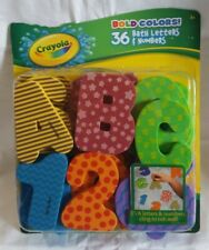 Crayola Bold Colors! 36 Bath Letters & Numbers New In Package