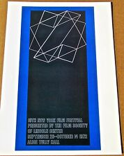 Josef Albers for Tenth New York Film Festival Offset Lithograph 16X11 LC
