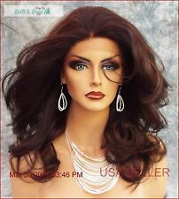 Lace Front Wig Hand Tied Front  FS4.27 Soft Sexy Curls Fast Ship US Seller 447