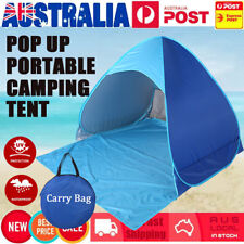 Pop Up Camping Tent Beach Portable Hiking Sun Shade Family Shelter 4 Person NEW