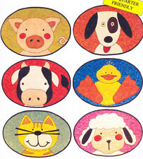PATTERN - Farm Placemats - cute applique table mats PATTERN - 6 designs