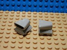 LEGO LEGOS  -  Set of 2 NEW Vehicle Air Scoop Top 2x2  Light Bluish Gray