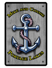 Personalized BOAT ANCHOR Sign Printed w YOUR NAME LOCATION QUALITY ALUMININUM478