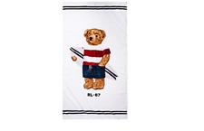 "Polo Ralph Lauren Boy Surfer Bear Cotton Beach Towel 35"" X 66"" inches NEW"