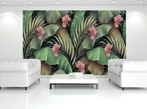 Tropical Flowers Vintage Photo Wallpaper Wall Mural WALL DECOR