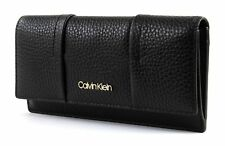 Calvin Klein City Leather Trifold W / Coin S Black