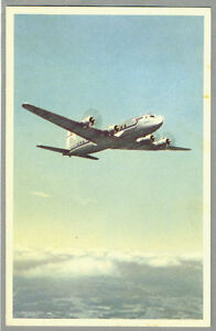 1960 SAS Scandinavian Airlines Douglas DC-6 Old Postcard