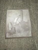 Vintage R. Hendrickson Sepia Print Dainty Lady Towel Risque Bottom Tub