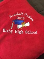 Fleece Throw blanket-graduation-customized,personalized