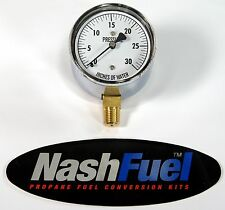 "LOW PRESSURE WATER COLUMN GAUGE 0-30"" WC PROPANE NATURAL GAS 1/4"" NPT 1 PSI"