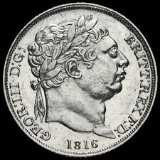 More details for 1816 george iii milled silver sixpence, g/ef