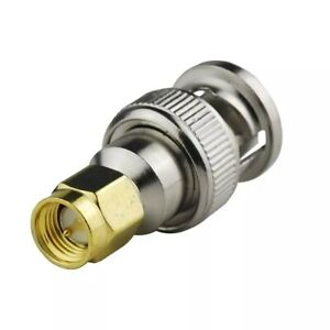 BNC Male Jack to SMA Male Jack RF Coaxial Adapter Connector