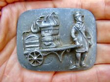 Vtg BELLBOY Belt Buckle ART Luggage CART Baggage Suitcase Train Pewter RARE VG++