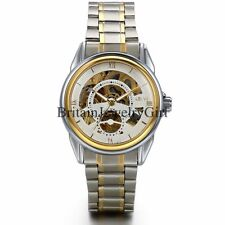 Men's Luxury Auto Mechanical Skeleton Stainless Steel Band Wrist Watch Gift