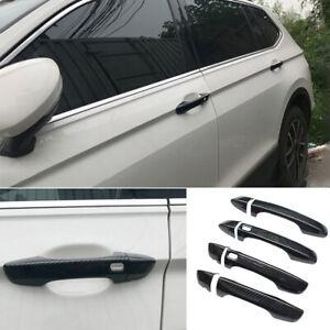 For Volkswagen Tiguan 2017-2021 Outside Door Handle Cover Trim 8PCS Carbon Fiber