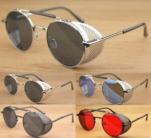 Round Goggles Steampunk Blinder Sunglasses Women's Men's UV400 Fashion Hippie