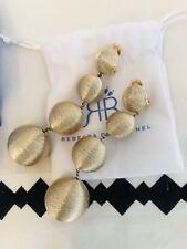 Authentic Rebecca De Ravenel Earrings Gold Les Bon Bon 4 Ball Earrings