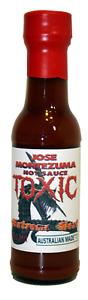 Gourmet Toxic Hot Sauce (Dangerously Hot)150ML Chili Ghost & Carolina Reaper