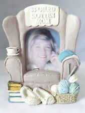 """Frame Spoiled Rotten Mom Stand Alone Dimensional Photo for a 2"""" X 2"""" by Figi"""