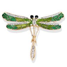 Emaille Dragonfly Brosche Kristall Kragen Braut Brosche Pin Frauen SchmuckYRTY