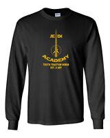 055 Jedi Academy Long Sleeve Shirt funny geek star lightsaber wars nerdy new
