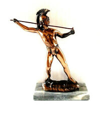 Vintage Copper Metal Cast Statue of Roman Centurion Soldier Classical Figure