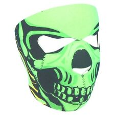 Green Goblin Ghoul Skull Neoprene Full Face Mask ATV Ski Biker Reversible Black