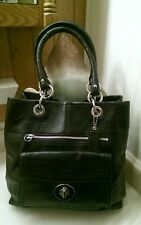 Gorgeous Coach Hampton Pebbled Leather Turnlock North/South Tote Bag- #15694