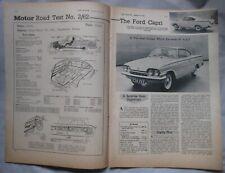 1962 Ford Capri Original Motor magazine Road test