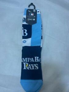 Stance MLB Socks Pop Fly Tampa Bay Rays Crew SZ Medium Size 6-8.5